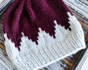 fair isle beanie // gifts for her // knit beanie // fair isle knit // slouchy beanie // fair isle knit hat // gift // timberline beanie