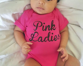 Custom Onesie PINK LADIES - GREASE