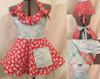 Flirty Retro Apron with Crinoline / Petticoat.