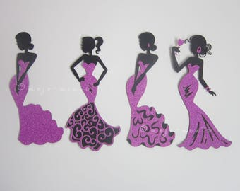 Fishtail Lady Die Cuts - Pack of 4 - Assembled and Ready To add Straight On To Your Projects