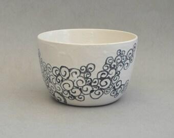 Swirly bowl- Handmade stoneware ceramics