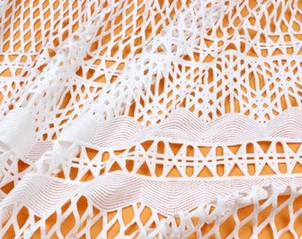White Lace Fabric, Lace Dress, Hollow Out Wedding Lace Fabric, Gift-100cm wide