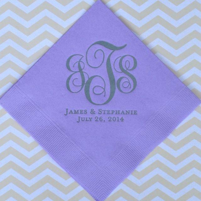 Monogram Paper Napkins Uk: Personalized Monogrammed Wedding Napkins Custom Napkins Gold