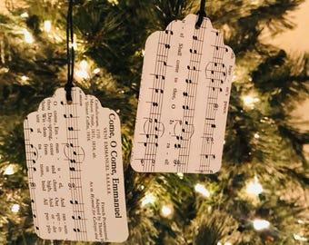 Hymnal Christmas Carol Gift Tags
