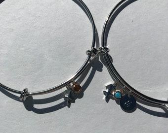 Sagittarius Zodiac Charm Bangle Bracelet