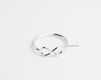 Infinity ring | Sterling Silver Infinity Ring | Silver Wire Ring | Infinity Ring | Promise Ring | Friendship Ring | 925 Sterling Silver