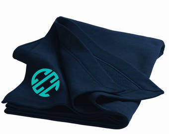 Monogrammed DryBlend + Stadium Blanket + Cyber Monday    Southernstitchandco.