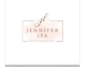 photography logo | logo design | blog logo | Rose gold logo | watercolor logo | boutique logo | feminine logo | Branding | website logo