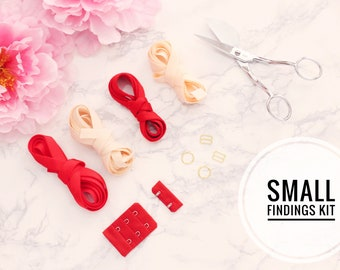 Small Bra Findings Kit - Red Peach - Perfect for an Underwired Bra