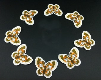 10pcs 4.8x4cm wide light brown butterflies pocket embroidered appliques patches 32d577 free ship