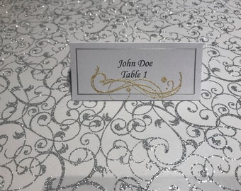 Wedding Place Cards, Color Accent Place Cards, Meal Choice Place Cards, Custom Place Cards