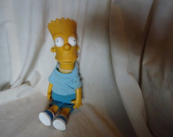 """Vintage 1990 Bart Simpson 11"""" Doll with Matt Groening Stamped,  collectable"""