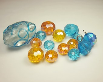 15 glass beads in assortment (CA19)