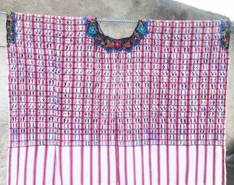 Vintage Guatemalan Huipil from San Lucas Toliman - Hand Woven and Stitched