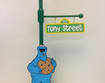 Cookie Monster or Elmo Sesame Street Cookie Monster's Party  Lamp Post Centerpiece
