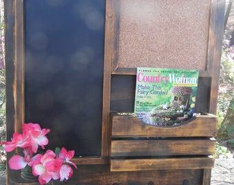 Message Center--Message Board--Command Center--Wood Working-- Farm house--Kitchen organizer--Cookbook Holder