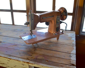 Vintage Pink Sewing Machine, Brother Window Matic