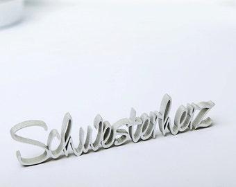 Sis - 3D wood lettering