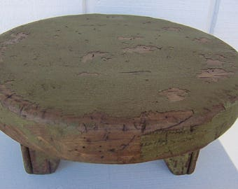 Farmhouse primitive table riser painted distressed country rustic farm  early American decor