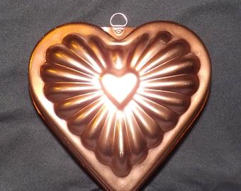 Copper heart Jello/cake mold