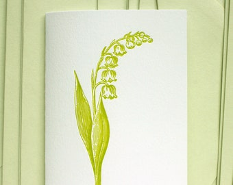 Lily of the Valley Letterpress Card Set