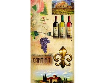Toscana, Colorful Wall Art, Digital Art, Printable Poster, Digital Download, Printable Photography, Printable Art,  Photographic Collage