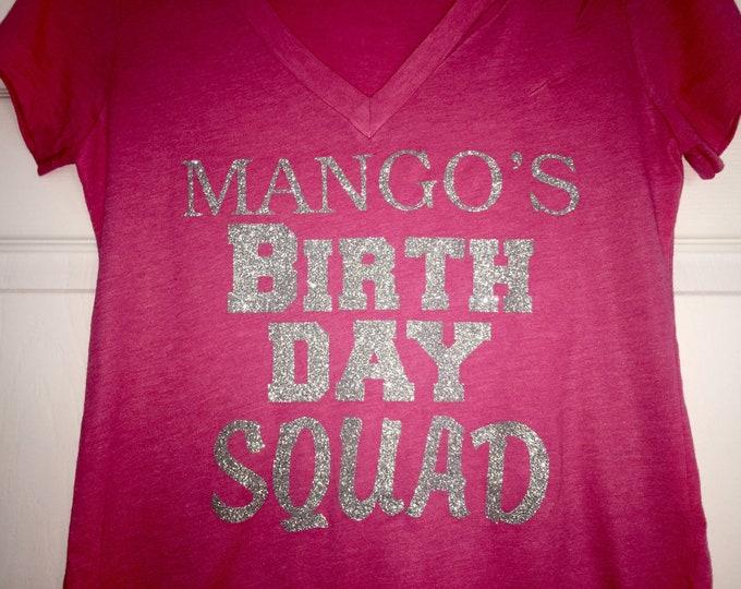 CUSTOM Birthday Squad Shirt Ladies Personalized Shirts Flowy Adult
