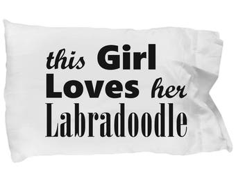 Labradoodle - Pillow Case - Dog Gifts For Women - Gifts for Dog Lovers - Handmade Gift For Her