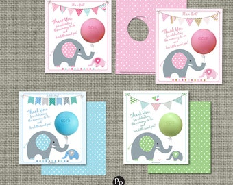 Printed Baby Shower Party Favors for EOS lip balm | Thank You Tags | mommy-to-be and her little sweet pea! | Favor Tags | No. PBE2-EOS1