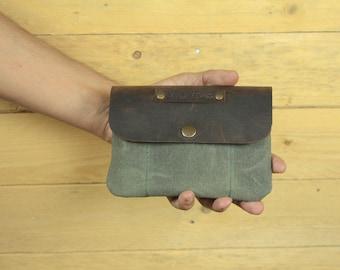 Waxed Canvas Tobacco/tobacco pouch/cigarette case/smoking accessories/tobacco case/rolling tobacco/cigarette case.