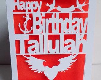 Birthday Card, Tattoo, Cut Out Card, Tattoo Birthday Card, Personalised Birthday Card
