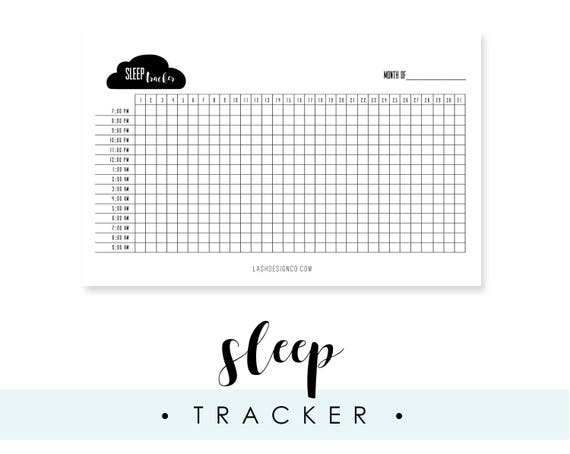 Sleep Tracker for A5 Planner or Bullet Journal Printable