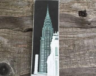 Chrysler Building NYC Negative Art Image on Canvas