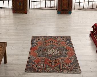 Turkish Runner Rug Oushak Decorative Handwoven Rug Turkish Antique Rug 3.3 x 5.2 ft F-292