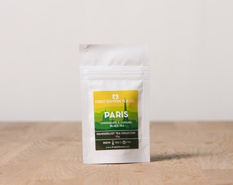 Paris Loose Leaf Tea Blend - Chocolate and Caramel Black Tea - Tea Sample - 10g bag