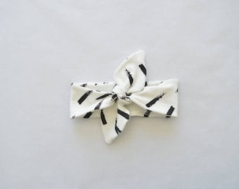 Baby Hair strap diagonal stripes black and white-baby clothes