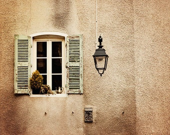 French Country Window - France Travel Photography - 5x7 Fine Art Photo - Burgundy Photo