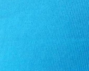 "SALE Turquoise Featherwale Corduroy Fabric  --  44""/45"""" Wide"