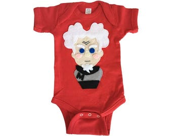 I am The Supermodel! - Mugatu Inspired Baby Red Bodysuit - Baby Shower Gift