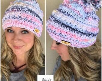 Handmade Slouchy Beanie - Chunky Crochet Beanie - Crocheted Hat