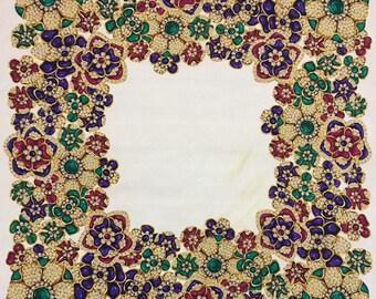 Authentic CHANEL Jewelry Silk Scarf