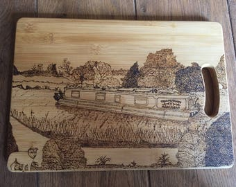 Personalised Chopping/Cheese/Bread/Serving Board, hand created from a photo