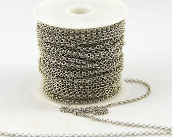 50 cm chain thin color silver palladium