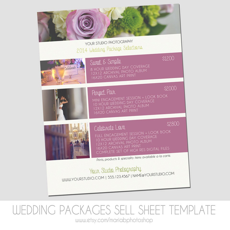 modern sell sheet design