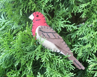 House Finch Felt Bird Ornament