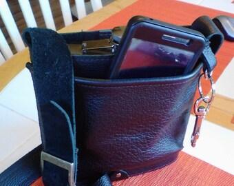 Leather Flask Bag
