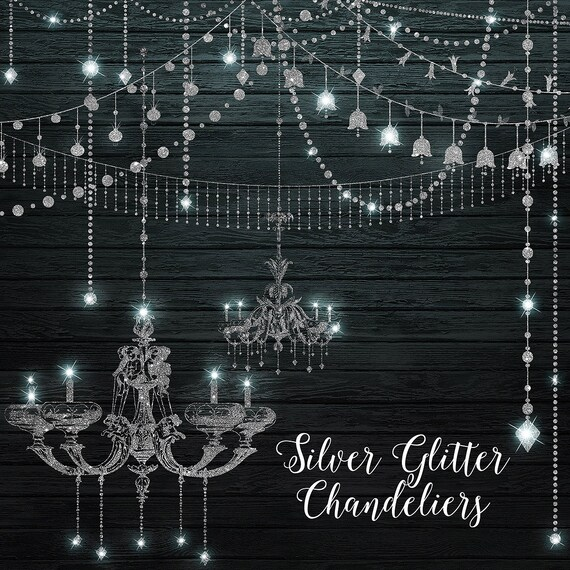 Silver glitter chandeliers clipart digital chandelier clip art silver glitter chandeliers clipart digital chandelier clip art string lights party lights fairy lights png diamonds commercial use from digitalcurio mozeypictures Gallery
