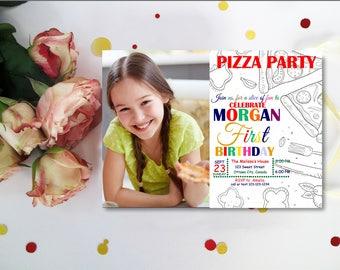 Pizza Birthday Invitation. Pizza Birthday Party Invitation. Pizza Invitation. Pizza Party. Birthday Invitation. Pizza Birthday Invite DIY