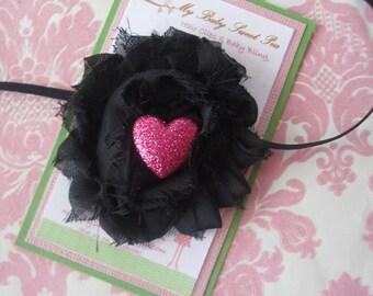Baby headbands - valentines day - valentine headbands - girl headbands