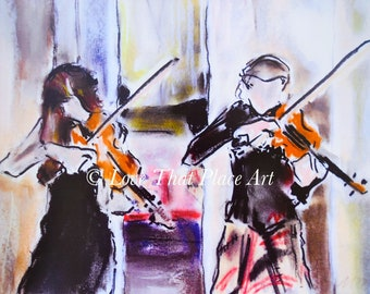 Violin Duet, Glasgow's West End